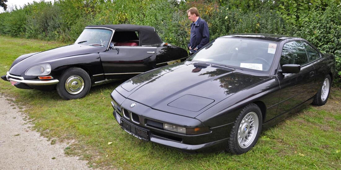 BMW 850i und Citroen DS Cabrio