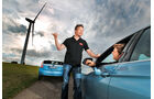 BMW Active Hybrid 3, Toyota Prius Plug-in Hybrid, Windrad