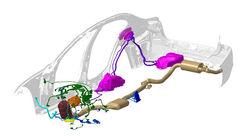 BMW Diesel-Abgas-Nachbearbeitungs-Komponenten