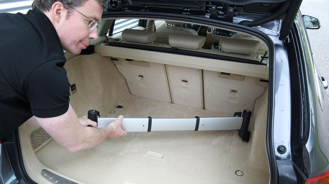 BMW Dreier Touring, Kofferraum, Aluschiene