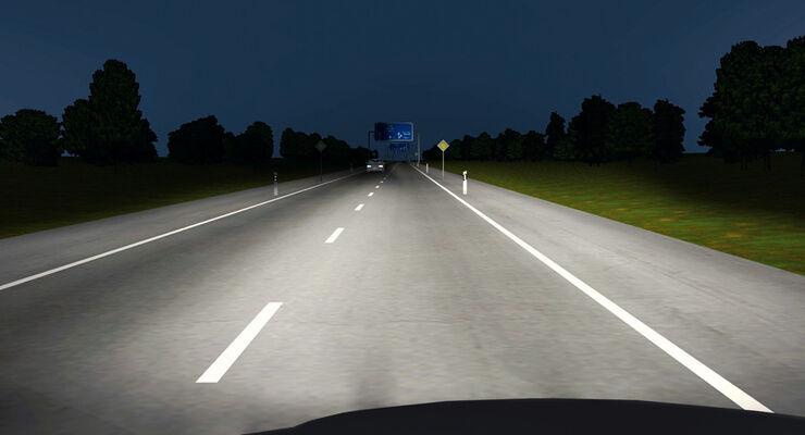 BMW, Licht, Überland, Grafik