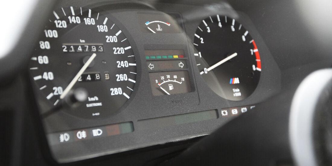 BMW M 635 CSi Typ E 24, Tacho,Detail
