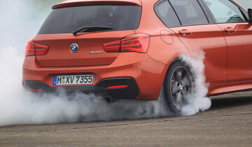 BMW M135i, Burnout