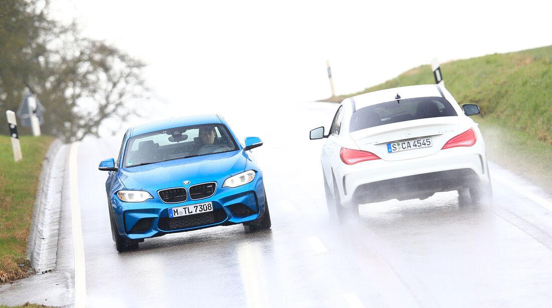 BMW M2, Mercedes-AMG CLA 45, Ausfahrt