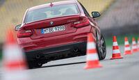 BMW M235i, Heckansicht, Slalom