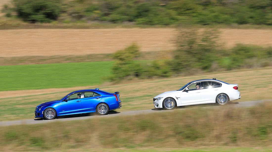 BMW M3 Competition, Cadillac ATS-V, Seitenansicht
