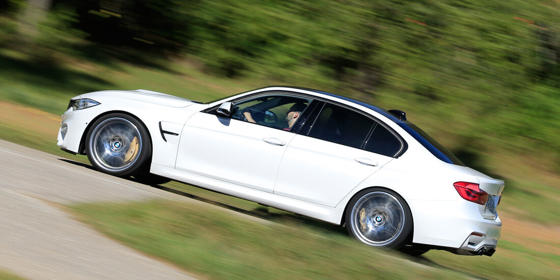 BMW M3 Competition, Seitenansicht