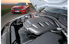 BMW M3 Coupe Competition, Mercedes C 63 AMG Performance Package, Motorhaube