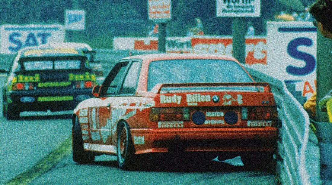 BMW M3, E30, DTM, Leitplanke