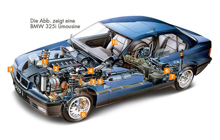 BMW M3 E36, Schwachstellen, Igelbild