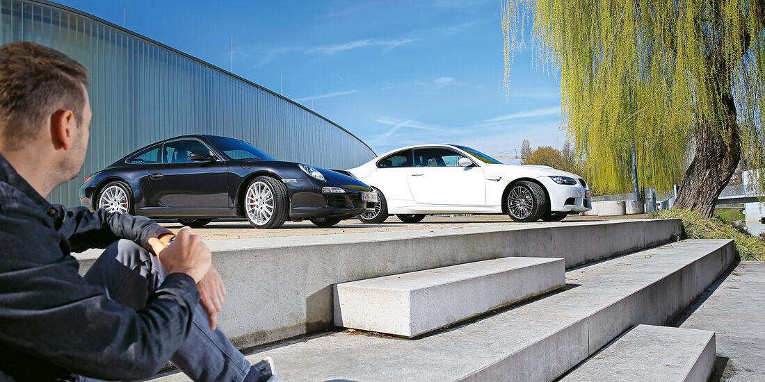 BMW M3, Porsche 911 Carrera S, Seitenansicht