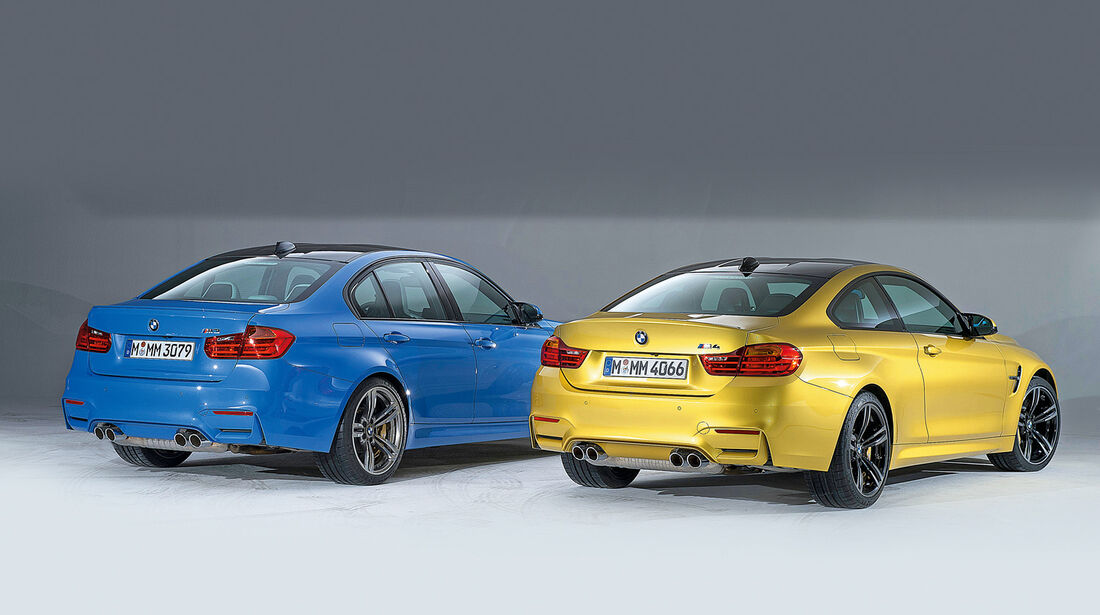 BMW M3 und M4, Heckansicht