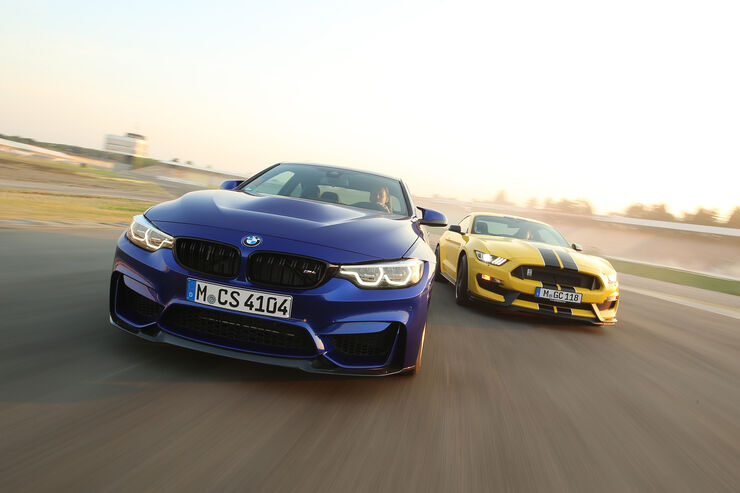 BMW M4 CS, Mustang Shelby GT350, Front