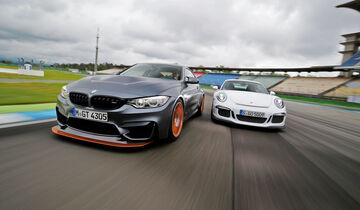 BMW M4 GTS gegen Porsche 911 GT3, Vergleichstest, 06/2016