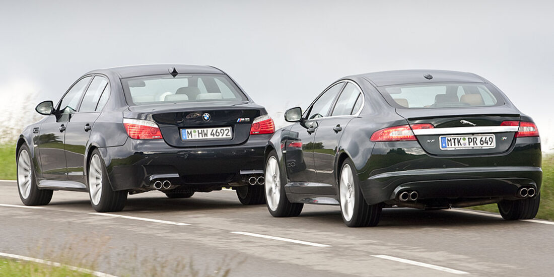BMW M5, Jaguar XF-R