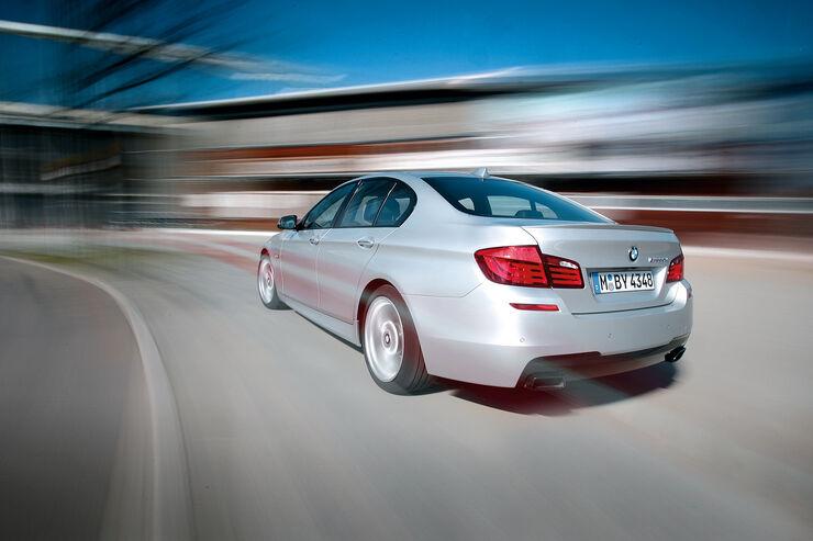 BMW M550d x-Drive, Heck