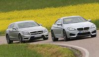 BMW M6 Gran Coupé, Mercedes CLS 63 AMG Shooting Brake, Frontansicht