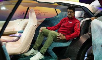 bmw vision inext (2021): erste virtuelle mitfahrt auf der ces - auto