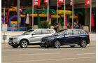 BMW X1 20d xDrive, BMW X3 20d xDrive, Seitenansicht