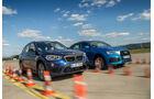 BMW X1 xDrive 25i, Audi Q3 2.0 TFSI Quattro, Frontansicht