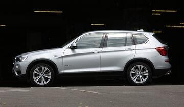 BMW X3 20d xDrive, Seitenansicht