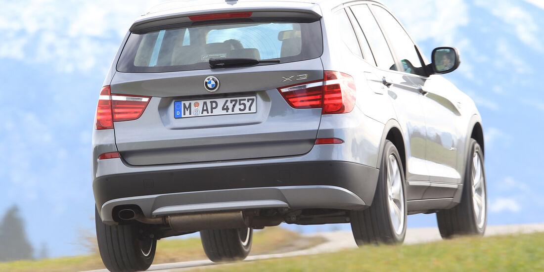 BMW X3, Heckansicht