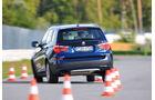 BMW X3 x-Drive 30d, Slalom, Heck, Rückansicht