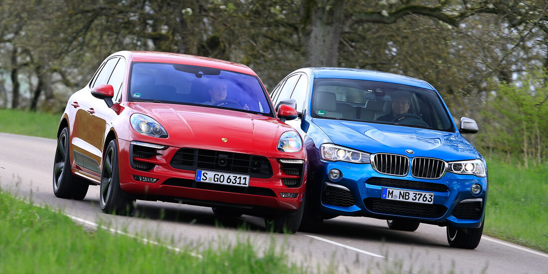 BMW X4 M40i, Porsche Macan GTS, Frontansicht