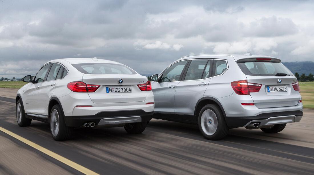 BMW X4 xDrive 35d, BMW X3, Heckansicht