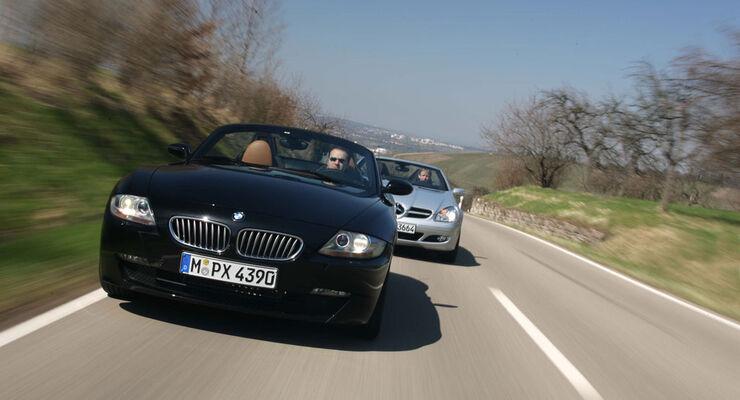 BMW Z4 M Roadster - Mercedes SLK 55 AMG und  BMW Z4 Roadster 3.0si - Mercedes SLK 350 01