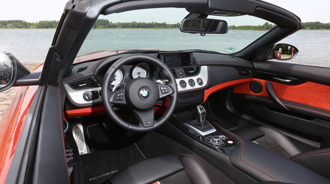 BMW Z4 s-Drive 35i, Cockpit, Lenkrad