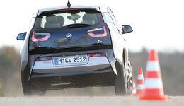 BMW i3 Range Extender, Heckansicht, Slalom