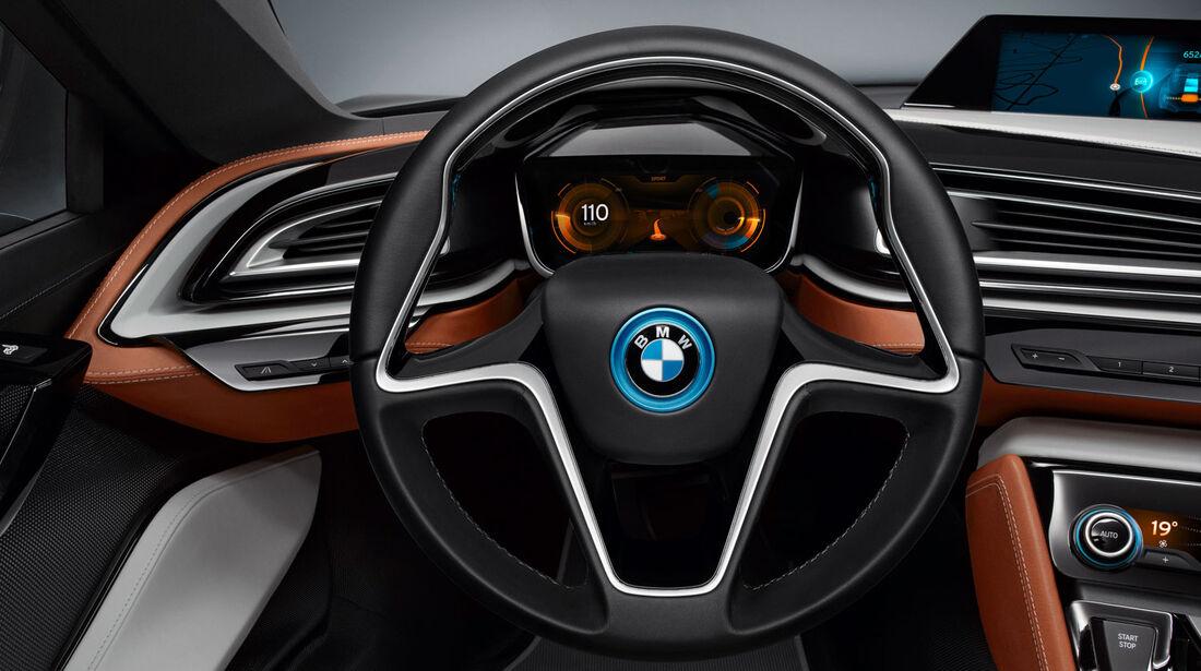 BMW i8 Concept Spyder, Cockpit, Lenkrad