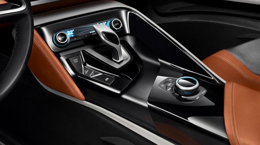 BMW i8 Concept Spyder, Mittelkonsole