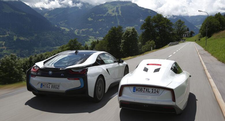BMW i8, VW XL1, Heckansicht