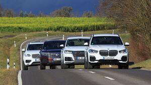 BMX X5, Audi Q7, Volvo XC90, VW Touareg