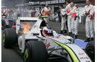 Barrichello - Feuer am Brawn