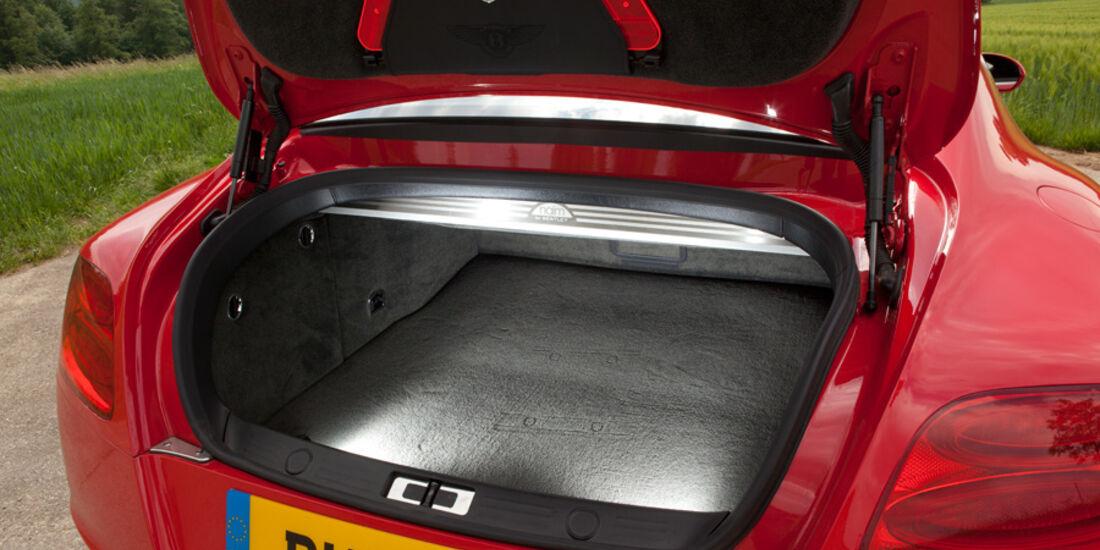 Bentley Continental GT, Kofferraum, Kofferraumklappe offen