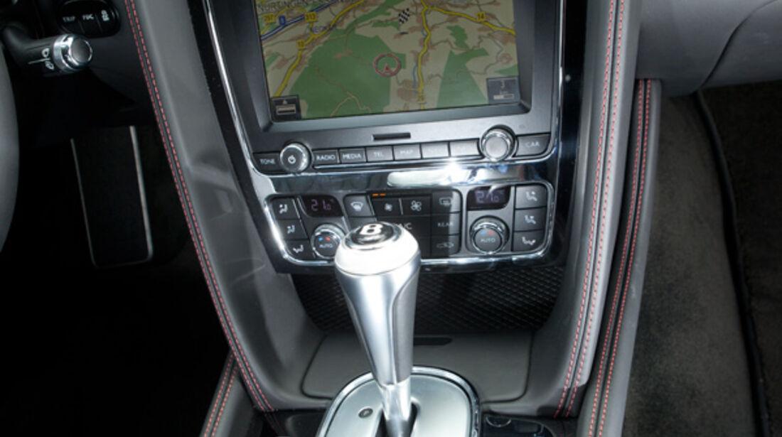 Bentley Continental GT, Mittelkonsole, Navi, Schalthebel