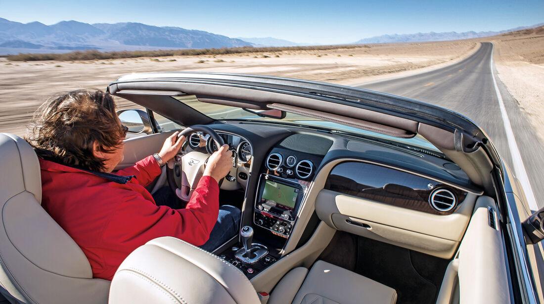 Bentley Continental GTC Speed, Cockpit, Lenkrad