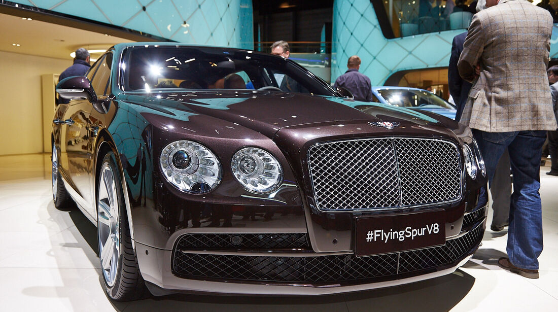 Bentley Flying Spur V8, Genfer Autosalon, Messe, 2014