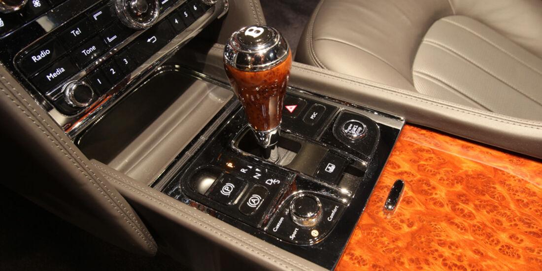 Bentley Mulsanne, Detail, Schaltung, Mittelkonsole