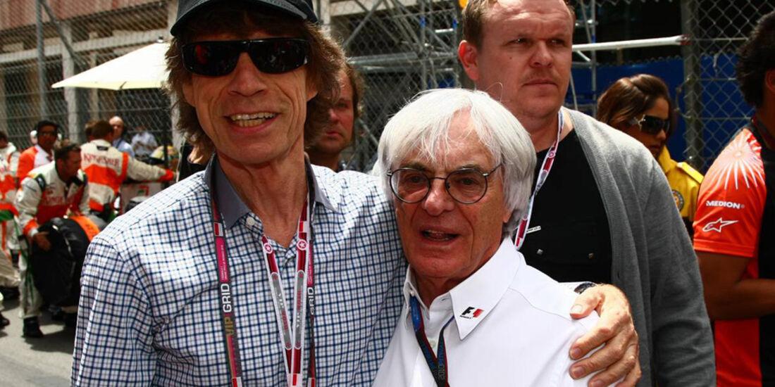 Bernie Ecclestone und Mick Jagger