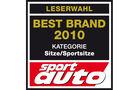 Best Brand 2010 Sitze/Sportsitze Logo