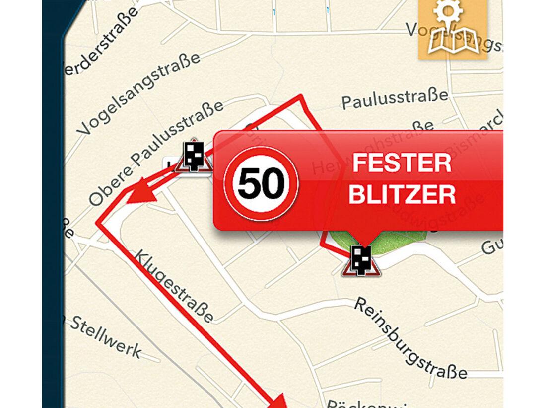 Blitzer App Polizeikontrolle