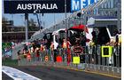 Boxengasse - Formel 1 - GP Australien - 13. März 2015