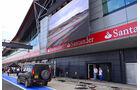 Boxengasse - Formel 1 - GP England - Silverstone - 5. Juli 2012