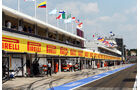 Boxengasse - Formel 1 - GP Ungarn - 27. Juli 2013