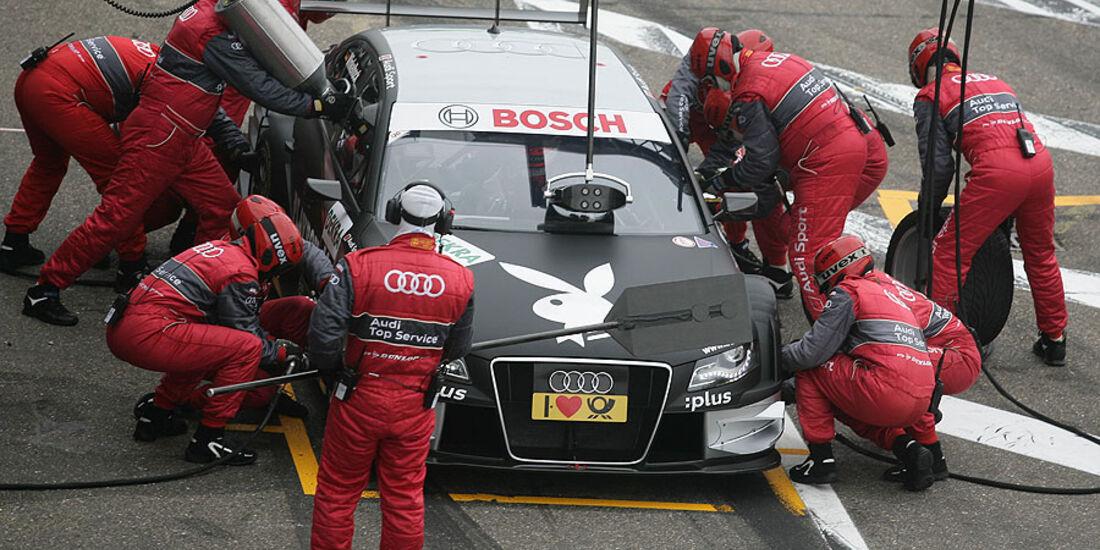 Boxenstopp Audi Markus Winkelhock DTM Zandvoort 2010