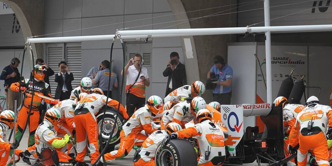 Boxenstopp - Force India  - Formel 1 - GP China - 15. April 2012